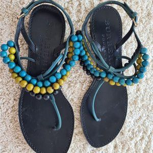 Burberry Beaded Sandals